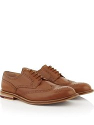 Kurt Geiger London Hatley Lace Up Brogues Tan