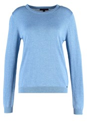 Tom Tailor Denim Jumper Tinted Canvas Blue Melange
