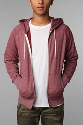 Bdg Gym Raglan Zip Hooded Sweatshirt Berry
