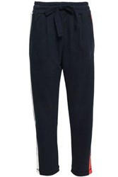 Chinti And Parker Cotton Jersey Tapered Pants Navy