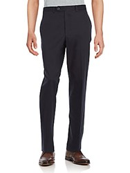 Saks Fifth Avenue Solid Cotton Trousers Navy