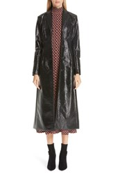 Beaufille Coated Cotton Trench Coat Black