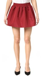 Red Valentino Pleated Miniskirt Granato