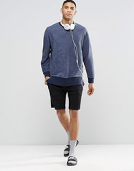 Asos Loungewear Jersey Shorts With Neon Double Waistband Black