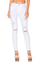 7 For All Mankind The Ankle Skinny Clean White 3