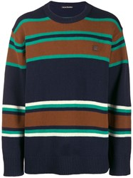 Acne Studios Striped Sweater Blue