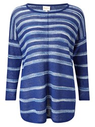 East Space Dye Linen Jumper Ocean