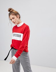 Pull And Bear Pullandbear My Own Boss Sweatshirt Red