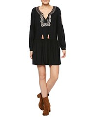 Sanctuary Embroidered Peasant Dress Black