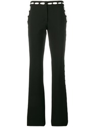 Moschino Contrast Print Trousers Black