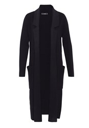 Hallhuber Maxi Cardigan With Lapels Black