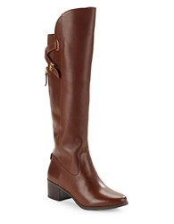 Anne Klein Junip Wide Calf Riding Boots Dark Brown
