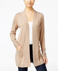 Jm Collection Open Front Cardigan Only At Macy's Acorn Heather