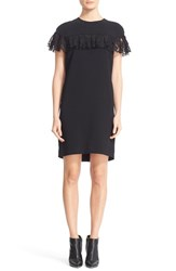 Burberry Women's Enzamf Lace Ruffle Shift Dress