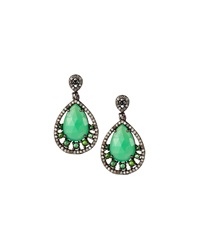 Bavna Chrysoprase And Green Tourmaline Earrings