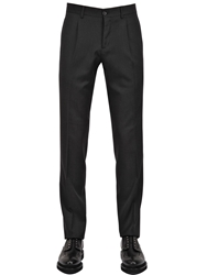 Faconnable 17.5Cm Wool Gabardine Trousers Charcoal