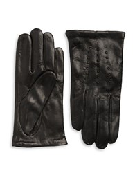 Michael Kors Stud Accented Leather Gloves Black