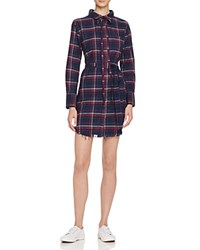 Dl1961 Prince And Mott Plaid Shirt Dress The Blue Shirt Shop Navy Burgundy Plaid
