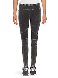 Andrew Marc New York Washed Cotton Blend Leggings Black