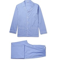 Zimmerli Mercerised Cotton Pyjama Set Blue