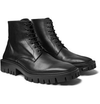 Balenciaga Outdoor Rim Leather Derby Boots Black