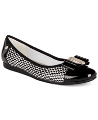 Anne Klein Sport Aricia Flats Only At Macy's White Black Multi