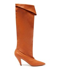 Givenchy Slouchy Knee High Leather Boots Light Tan