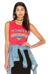 Junk Food Wonder Women Tank Red