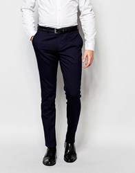 Selected Homme Skinny Wedding Suit Trousers With Stretch Navy Blue