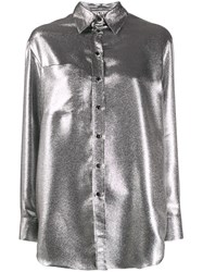 Marco De Vincenzo Metallic Relaxed Fit Shirt 60