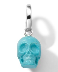 Ippolita Sterling Silver Skull Charm In Turquoise