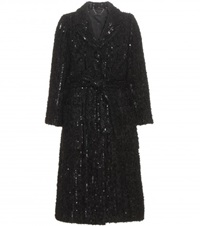 Marc Jacobs Embellished Knitted Coat Black