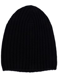 Barrie Ribbed Knit Beanie Black