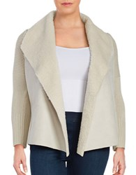 Context Plus Sherpa Collar Open Jacket Winter Ivory