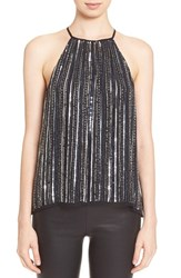 Women's Parker 'Current' Embellished Strappy Halter Top