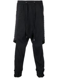 D.Gnak Side Panelled Trousers Black