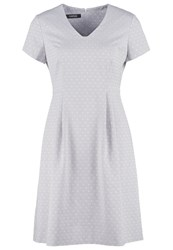Taifun Summer Dress Greige Grey
