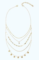 Lilly Pulitzer Sunkissed Layered Necklace Gold Metallic