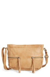 Day And Mood 'Hannah' Leather Crossbody Bag Brown Camel