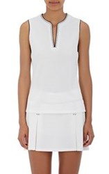 Tory Sport Cross Stitched Tennis Top White