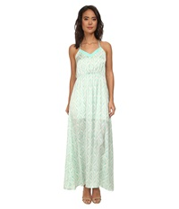 Gabriella Rocha Ballet Print Maxi Dress Mint Women's Dress Green