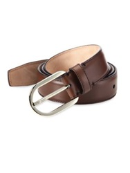Bally Calf Leather And Metal Belt Brown