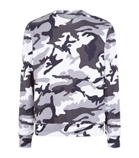 Sandro Warfare Camouflage Sweatshirt Male Grey