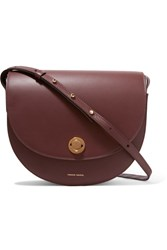 Mansur Gavriel Saddle Leather Shoulder Bag Burgundy