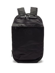 Y 3 Logo Print Technical Backpack Black