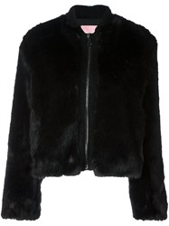 Giamba Short Flared Sleeves Coat Black