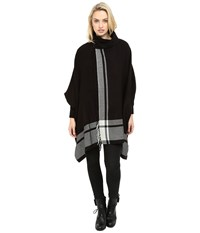 Echo Shawl Collar Ruana Black Women's Clothing