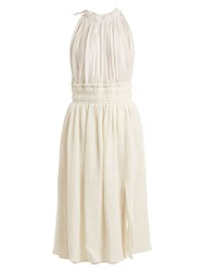 Altuzarra Vivienne Gathered Midi Dress Ivory