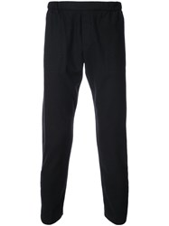 Stephan Schneider Cropped Elasticated Waistband Trousers Polyester Cashmere Wool Black