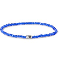 Luis Morais Glass Bead And White Gold Bracelet Blue